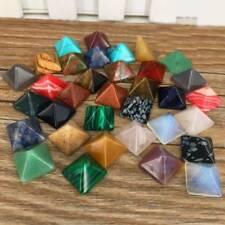 7pcs/Set  Natural Agate Jade Chakra Pyramid Stone Crystal Healing Spirituality