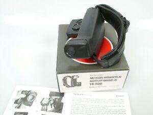 Leitz Leica Handgriff R 14308 + Lederschl. für Winder + Drive R4-R7 + Anltg.