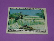 CHROMO CONGO BELGE N°236 CHUTES DU ROUBI CHOCOLAT PUPIER AFRIQUE 1938-1950
