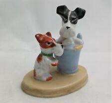Vintage Porcelain Dog Figurine Made In Occupied Japan Schnauzer Jack Russell