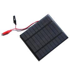 2.5W 5V Solar Cell Polycrystalline Solar Panel+Crocodile Clip For Charging T7C5