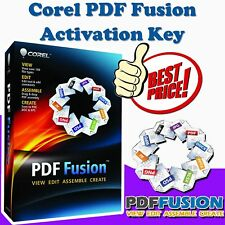 Corel PDF Fusion | Easily create and edit PDFs | Activation Key | Quick Delivery