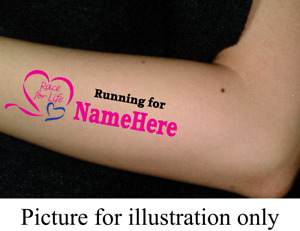 Race for Life Personalised Dedication Tattoo [Charity Listing]