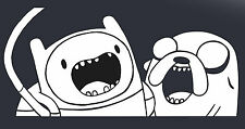 Adenture Time Jake and Finn Sticker Large 300mm Wide Suit Wall art Car Ute