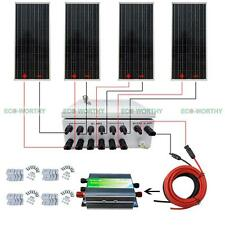 4x 100W 12V Solar Panel & 45A Controller & 6 String Combiner Box for Cabin Yacht