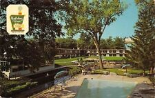 South Bend Indiana~Holiday Inn~Pool~Bath House~Dixieway North Highway~1969 PC