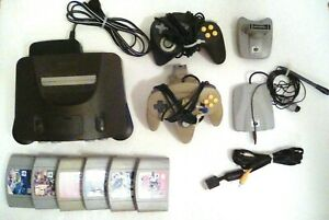 Nintendo 64 N64 CONSOLE BUNDLE WITH 2 CONTROLLERS 6 GAMES +