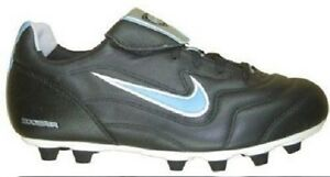 New Nike Womens Kids Air Zoom Comfort FG-E Firm Ground Soccer Cleat Black 5.5