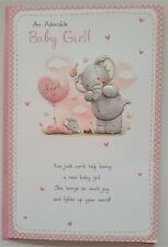 To An Adorable Baby Girl shower greeting card 15x23cm