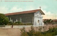 DB Postcard CA E461 Mission Dolores Founded 1776 San Francisco Monks ca1910s