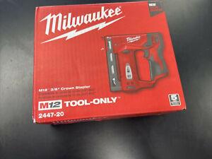 "Milwaukee 2447-20 M12 3/8"" Crown Stapler NEW SEALED!"