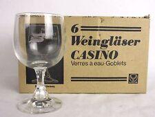 (6) GLASSES CRYSTAL 8 oz Goblets CASINO WEINGLÄSER Ruhrglas w Box W Geramny s12