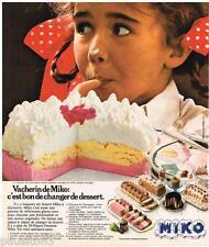 PUBLICITE ADVERTISING 095  1976   MIKO   le gateau glacé VACHERIN