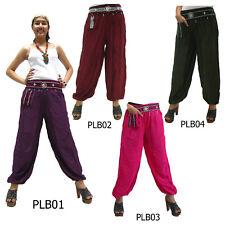 Pantalones PLB Tailandia Rayón tribal Hmong Harem Pantalones de mujer Genie Aladdin Yoga