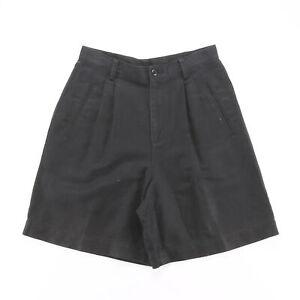 Vintage LIZ CLAIBORNE Black Petites Casual Woven Shorts Womens S W27