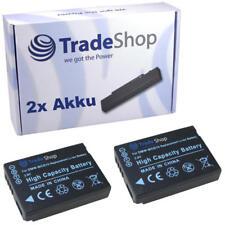 2x AKKU f. Panasonic Lumix DMC-TZ6 TZ7 DMW-BCG10E BCG10