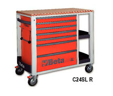 Beta Tools C24SL/R Mobile Roller Cabinet Tool Box Work Station Roll Cab Red Roll
