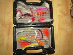 Large Flambeau Fly Box Full of Pike Flies    ..  Pike , Musky Fishing
