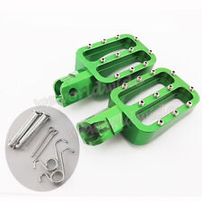 Green Footpegs Foot Rest For XR50 CRF50 KLX110 50cc-160cc Chinese Pit Dirt Bike