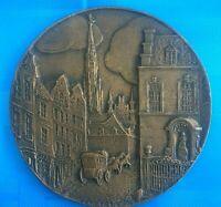 #1724# MEDAILLE ANCIENNE EN BRONZE SIGNEE R BETANNIER / ART NOUVEAU/ Rare