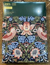 William Morris Strawberry Thief Single Duvet Cover Pillow Case Set Bedding NEW