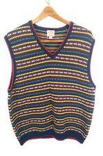 BROOKS BROTHERS Diamonds Striped Wool Cotton Blend Men's Sweater Vest XXL 2XL