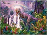 King of the Dinosaurs - DIY Chart Counted Cross Stitch Patterns Needlework DMC