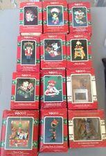 Enesco Christmas Ornament Lot Vintage 12 NOS Mouse Bear Nutcracker Toy Raindeer