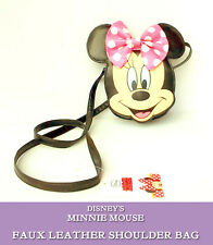 Minnie Mouse SMALL SHOULDER BAG Faux Leather PINK POLKA DOT BOW Disney OFFICIAL