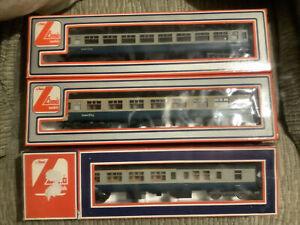 Lima 305302 TSO W5449 305301 TFO W13493 305303 BFK W10084 BR MK2b Blue/Grey Box1