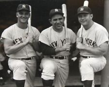 MICKEY MANTLE ROGER MARIS BERRA 8X10 PHOTO NEW YORK YANKEES NY BASEBALL PICTURE