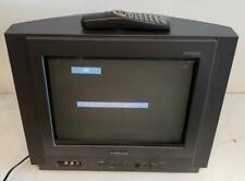 "Samsung 2002 CRT TV 14"" Dynaflat TXM1491F Retro Gaming Television Vintage Remote"