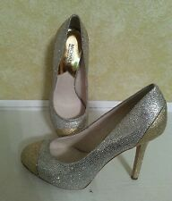 MICHAEL KORS ($145): 91/2 M  GOLD AND SILVER SPARKLEY PUMP
