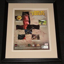 The Great Escape 2003 Xbox PS2 Framed 11x14 ORIGINAL Vintage Advertisement