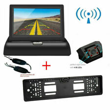 """Wireless Car Front and Rear Reverse Number Plate Camera Kit & 4.3"""" LCD Monitor"""