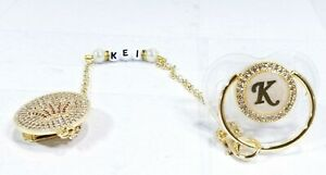 LIORE'E PERSONALIZED BABY NAME PACIFIER & INITIAL CLIP SET - KEI