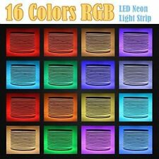 50' 110V RGB Multicolor Commercial LED Neon Rope Lights Flex Tube Sign W/ Remote