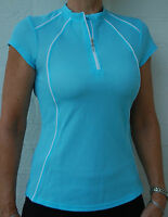 Cycling Bike Jersey Top cap Sleeve Women Ladies Blue S 8 M 10  L 12  XL 14 #142