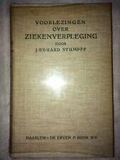 """1945 """"Voorlezingen Over Ziekenverpleging"""" Dutch Nursing Textbook Stumpff"""