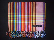 Kikoy Kikoi Red Purple Multi Africa Cotton Sarong Throw Scarf Kenya Swimwear NEW