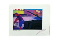 """Hand Signed Jeff Leedy Artist """"A Senior Moment"""" Year 2000 Print Matted 9"""" x 12"""""""