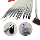 12Pcs Nail Art Polish Painting Draw Pens Brush Tips Tools Set Brushes Popular