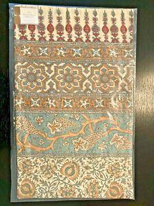Pottery Barn Selena Block Print Lumbar Pillow Cover 16 x 26 Kalamkari Blue NEW