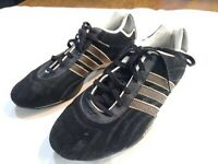 Adidas Tuscany Goodyear Adi-Racer Driving Shoes Men Size 7.5 Black Suede