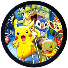 Pokemon Pikachu Black Frame Wall Clock Nice For Decor or Gifts F89