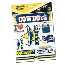 NEW North QLD Queensland Cowboys LOGO Car Sticker Stickers Sheet Gift NRL407KC