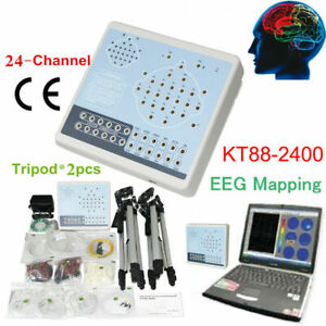 EEG machine CONTEC KT88-2400 Digital 24 Channel EEG and Mapping System +2 Tripod