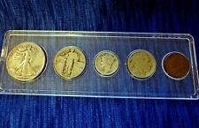 20th Century Type Coin Set Liberty Half, Quarter, Mercury Dime, Buffalo & Indian