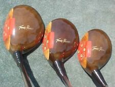 PERSIMMON Toney Penna Golf Clubs Refinish Wood Set Driver 3 4 w New Tour Grips