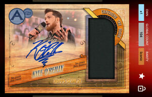 Kyle O'Reilly-Antique Signature Mat Relic Wood-Iconic-NXT/WWE Slam Digital Card.